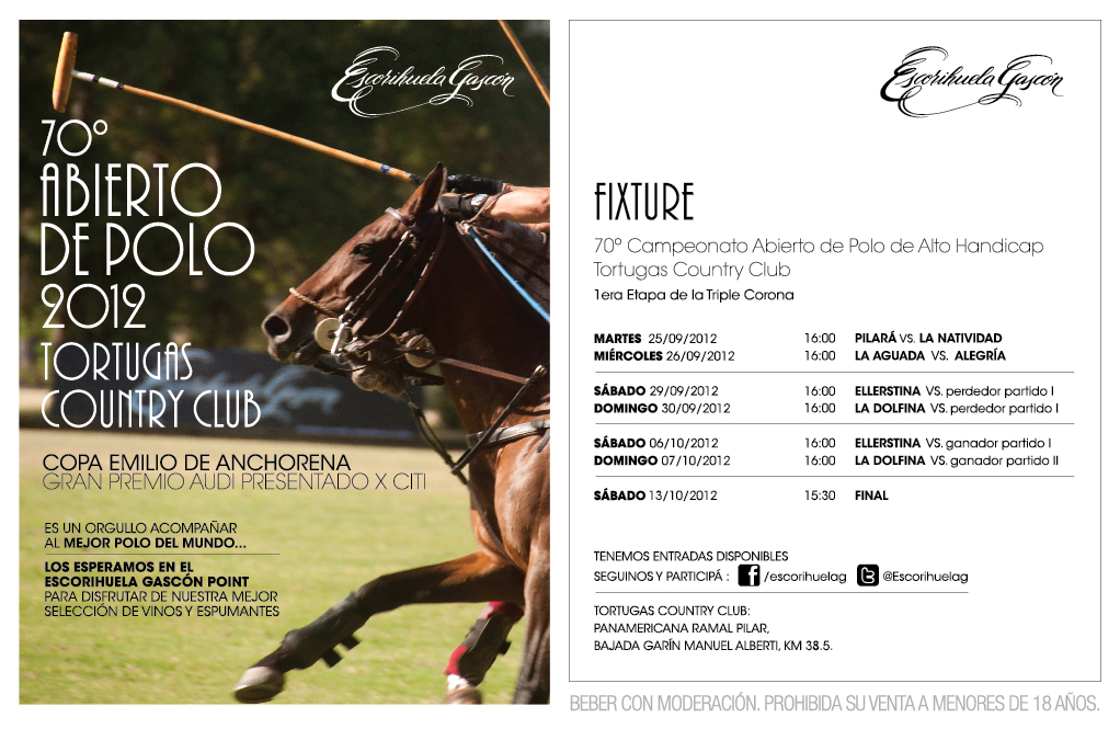 tortugas invite - WINE & POLO : . 70º Abierto de Polo 2012 Tortugas Country Club Copa Emilio de Anchorena